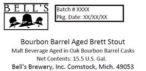 Bell's Bourbon Barrel Aged Brett Stout