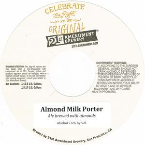 21st Amendment Brewery Almond Milk Porter