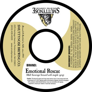 Smuttynose Brewing Co. Emotional Rescue