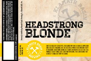 Klamath Basin Brewing Co. Headstrong Blonde