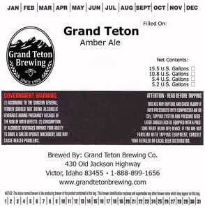 Grand Teton Brewing Company Amber