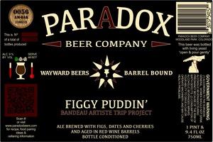 Paradox Beer Company Inc Figgy Puddin