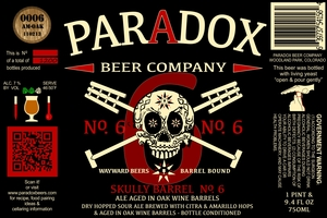 Paradox Beer Company Inc Skully Barrel No. 6