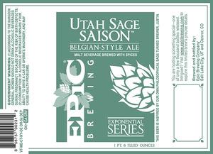 Epic Brewing Company Utah Sage Saison