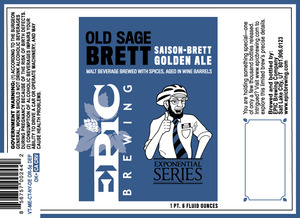 Epic Brewing Company Old Sage Brett