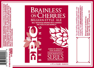 Epic Brewing Company Brainless On Cherries