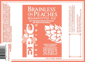 Epic Brewing Company Brainless On Peaches