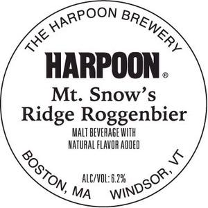Harpoon Mt Snow's Ridge Roggenbier