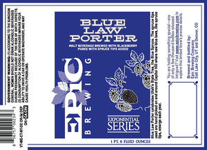 Epic Brewing Company Blue Law