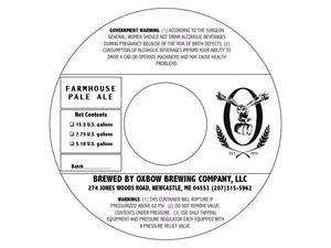 Oxbow Brewing Company Farmhouse Pale