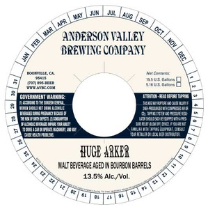 Anderson Valley Brewing Company Huge Arker