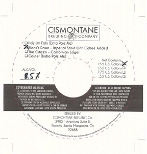 Cismontane Brewing Black's Dawn