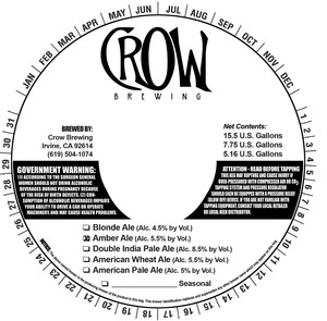 Crow Brewing Amber
