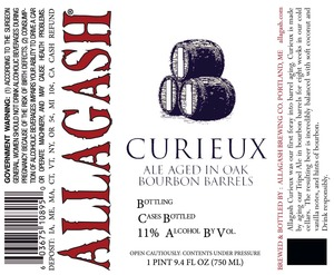 Allagash Brewing Company Curieux