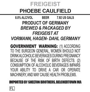 Freigeist Phoebe Caulfield