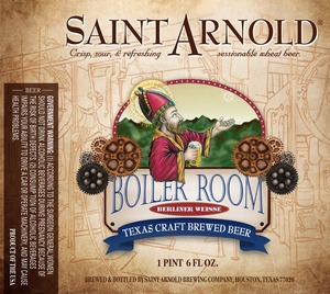 Saint Arnold Brewing Company Boiler Room Berliner Weisse