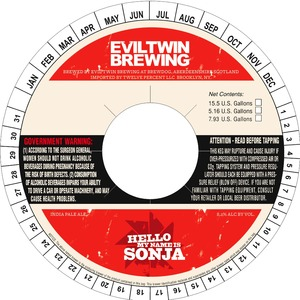 Evil Twin Brewing Hello My Name Is Sonja