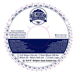 Blue Mountain Barrel House Evil 8*