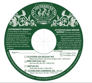 Southbound Brewing Co. Cluster Flies Farmhouse Ale