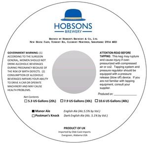 Hobson's Brewery Manor Ale