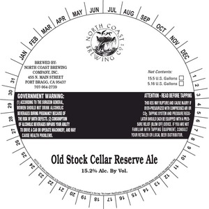North Coast Brewing Co. Old Stock Cellar Reserve