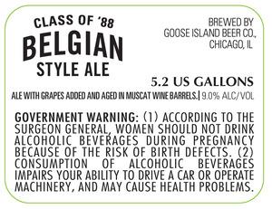Goose Island Beer Co. Class Of 88