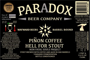 Paradox Beer Company Inc Pinon Coffee Hell For Stout
