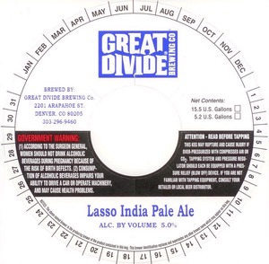 Great Divide Brewing Company Lasso December 2013