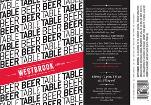 Westbrook Brewing Company Table