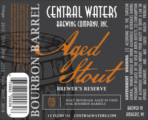 Central Waters Brewing Company Bourbon Barrel Aged Stout