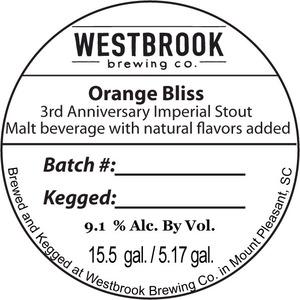 Westbrook Brewing Company Orange Bliss