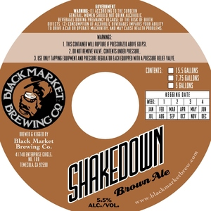 Black Market Brewing Co Shakedown Brown