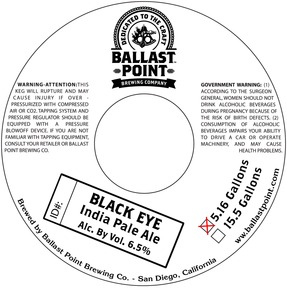 Ballast Point Brewing Company Black Eye
