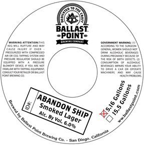 Ballast Point Brewing Company Abandon Ship