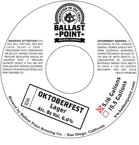 Ballast Point Brewing Company Oktoberfest