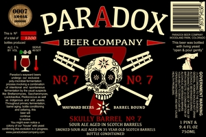 Paradox Beer Company Inc Skully No. 7