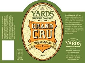 Yards Brewing Company Grand Cru