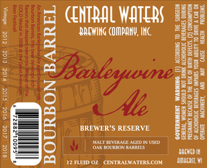 Central Waters Brewing Company Bourbon Barrel Barleywine