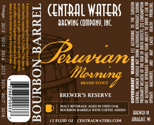 Central Waters Brewing Company Peruvian Morning Brand Stout