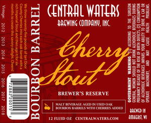 Central Waters Brewing Company Bourbon Barrel Cherry Stout