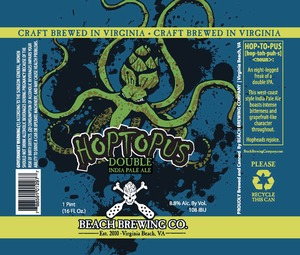 Beach Brewing Co. Hoptopus Double India Pale Ale December 2013