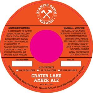Klamath Basin Brewing Co. Crater Lake Amber