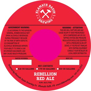 Klamath Basin Brewing Co. Rebellion Red