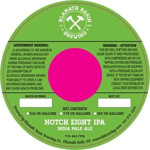Klamath Basin Brewing Co. Notch Eight IPA