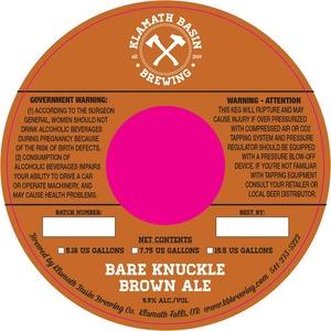 Klamath Basin Brewing Co. Bare Knuckle Brown