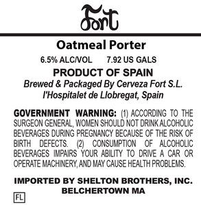 Fort Oatmeal Porter
