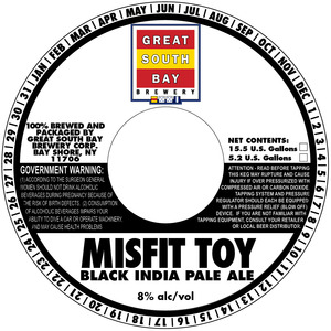 Great South Bay Brewery Misfit Toy Black