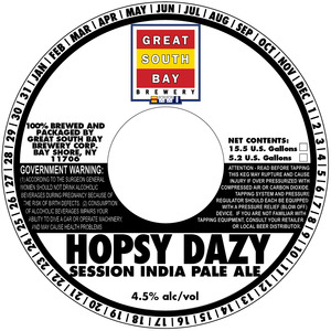 Great South Bay Brewery Hopsy Dazy Session