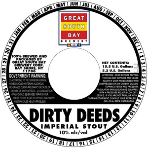 Great South Bay Brewery Dirty Deeds