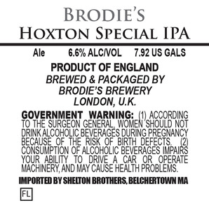 Brodie's Brewery Hoxton Special IPA